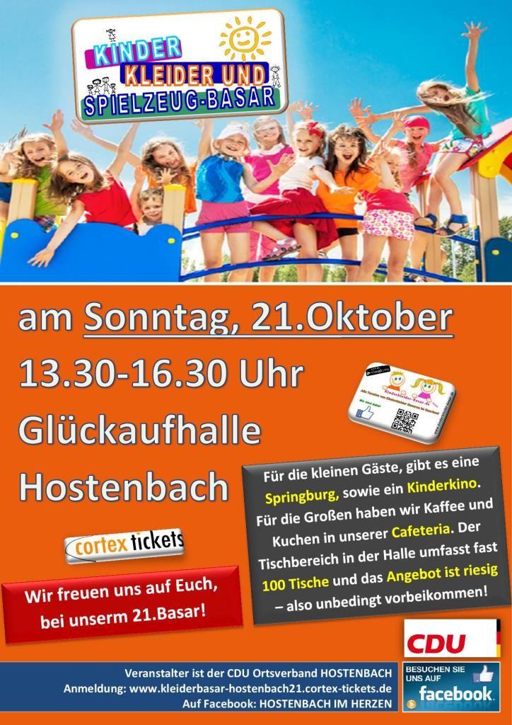 Tickets für 21. KINDERKLEIDER- UND SPIELZEUGBASAR am 21.10.2018 ...